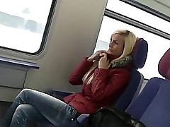 uber-cute german doll hump on public transport