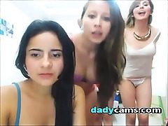 4 unexperienced teens disrobing on webcams