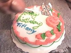 Playful redhead teen gets a rough dual penetrating as a birthday present