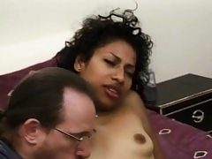 Unexperienced black stunner facialized during groupsex