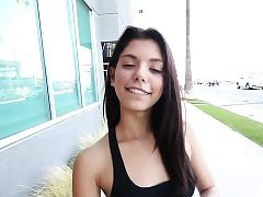 Latina teen spunked in pov