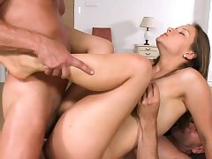 Doublepenetrated teenage prays for hard jizz-shotgun