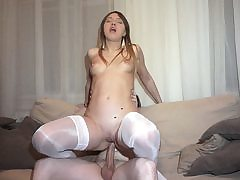Courtesan labia creampied