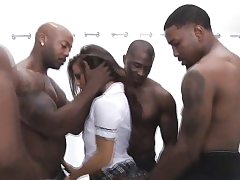 Enormous black hard-on in bigtits every fuck hole