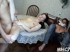 Cheating beauty pokes some other man
