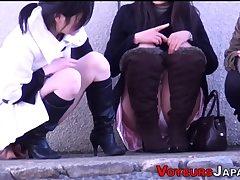 Upskirt chinese teens seen