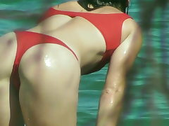 Swimsuit SLUT Displays LOTS OF ASS