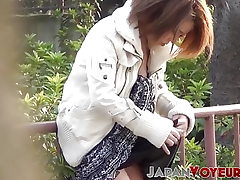 Classy Japan babes boob taunting all around the city