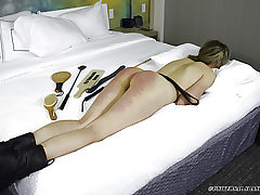 Hard Nude Bottom Belt Whippings - Smacking