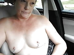 Exhibitionist MILF's Topless Camper Dare