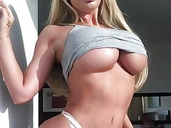 Dumb blonde Sophie dalzells big ass foolish tits
