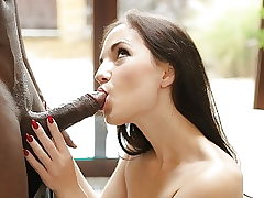 BLACK4K. Adorable Kristy Black gets a huge wood in her...