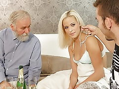 DADDY4K. Horny dad dragged son's girl into unexpected...