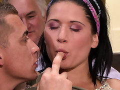 Cuckold surprise for his young Czech wife