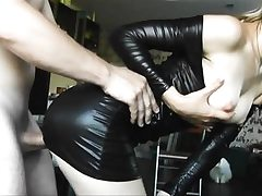 Spandex young honey gets doggy fucked hard